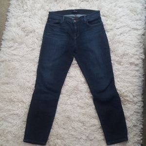 j. brand mid rise Capri cropped skinny jean
